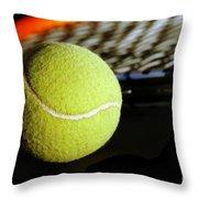 Tennis Equipment Throw Pillow