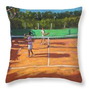 Tennis Practice Throw Pillow