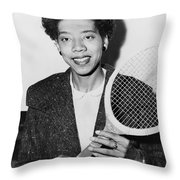 Tennis Star Althea Gibson Throw Pillow