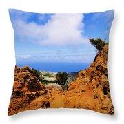 Teno Mountains Throw Pillow