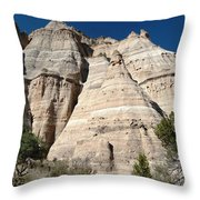 Tent Rocks 1 Throw Pillow
