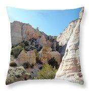 Tent Rocks 8 Throw Pillow