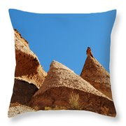 Tent Rocks Geology Throw Pillow