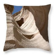 Tent Rocks Throw Pillow