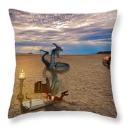 Tentacle Story Throw Pillow