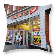 Tenterden Woolworths Store Throw Pillow