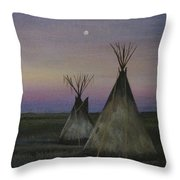 Teepees Throw Pillow