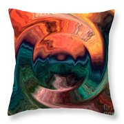 Tequila Sunrise Throw Pillow by Anthony Morris