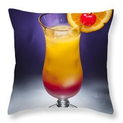 Tequila Sunrise Cocktail Throw Pillow