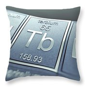 Terbium Chemical Element Throw Pillow