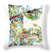 Terence Mckenna Watercolor Portrait.1 Throw Pillow