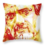 Terence Mckenna Watercolor Portrait.2 Throw Pillow