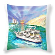 Terifico At Anchor Throw Pillow