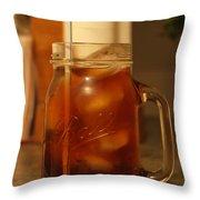 Teris Peach Tea Sober Throw Pillow