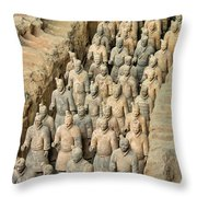 Terra Cotta Warriors Throw Pillow