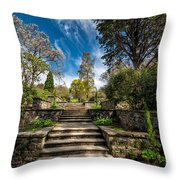 Terrace Garden Throw Pillow