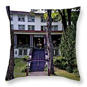 Terrace Inn Throw Pillow