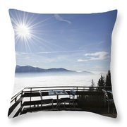 Terrace With Panoramic View Throw Pillow