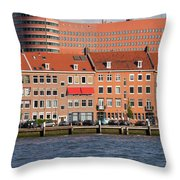 Terraced Houses In Rotterdam City Centre Throw Pillow