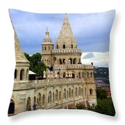 Terraces And Towers Of Fishermans Bastion Throw Pillow