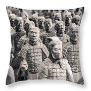Terracotta Army Throw Pillow by Adam Romanowicz