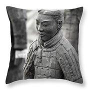 Terracotta Army Warriors In Xian China Throw Pillow