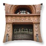 Terracotta Building Throw Pillow