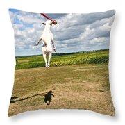 Terrier Ball Ballet Throw Pillow