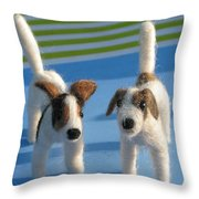 Terriers Throw Pillow