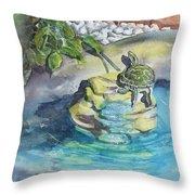 Terrific Turtle Throw Pillow