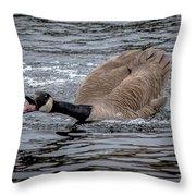 Territorial Canadian Goose Throw Pillow