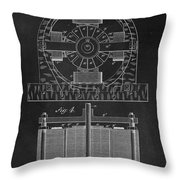 Tesla Coil Patent Art Throw Pillow
