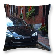 Tesla On Acorn Throw Pillow