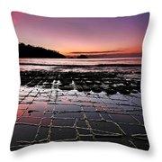 Tesselated Pavement Sunrise Throw Pillow