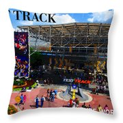 Test Track Opening 1999 Throw Pillow