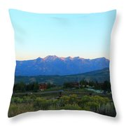 Teton Light Throw Pillow