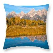 Teton Moon Throw Pillow