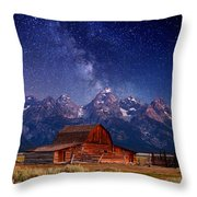 Teton Nights Throw Pillow by Darren  White