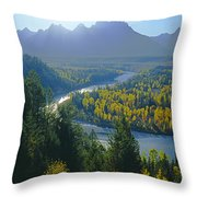 2m9301-teton Range From Snake River Overlook Throw Pillow