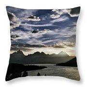 Teton Range Sunset Throw Pillow