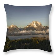 Teton Sunrise Throw Pillow