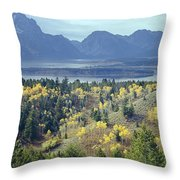 1m9209-tetons From Signal Mountain, Wy Throw Pillow