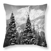 Tetons In Snow Throw Pillow