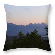 Tetons In The Morning Throw Pillow