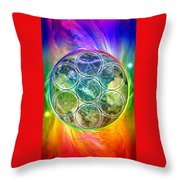 Tetra64 Polarity Earth Throw Pillow