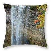Tews Falls In Autumn Throw Pillow