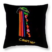 Tex Mex Cantina Neon Throw Pillow