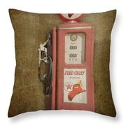 Texaco Fire Chief Throw Pillow
