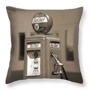 Tokheim Gas Pump 2 Throw Pillow by Mike McGlothlen