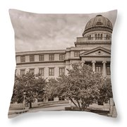 Texas A And M Academic Plaza - College Station Texas Throw Pillow